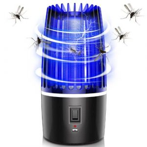 Killer Electronic Trap Uv Light Bug Repellent Bulb Mosquitos Control Anti Mosquito Killing Lamp Product Description: Item: Rechargeable mosquito killer trap lamp Material: ABS+PC Product Size: 12*12*21.5CM Power: 5W Color: black Certificates: CE, Test Report, Design Patent Applicable location: living room, kitchen, bedroom, office,school,camping